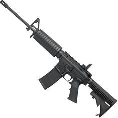 Colt 6720 AR-15 Semi Auto Rifle .223 Rem/5.56 NATO 30 Round 16 Lightweight Barrel  Flip Up Sight 4 Position Stock Black AR6720