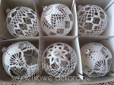 Vintage Christmas Balls, Crochet Christmas Ornaments, Christmas Crochet Patterns, Christmas Baubles, Crochet Blanket Patterns, Christmas Crafts, Crochet Star Stitch, Crochet Stars, Crochet Snowflakes