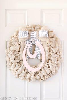 Baby Girl Wreath Hospital Door Wreath by GenevieveDesignsBR