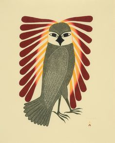 Kenojuak Ashevak, Observant Owl, 2009 via North of Sixty