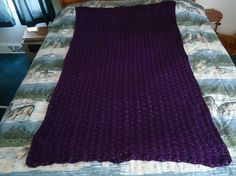 Deep Violet Hand Crocheted Shells Light Weight by CraftsbyCummins