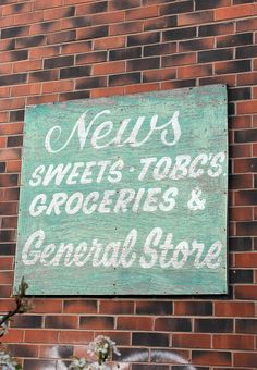 Cute old general stores sign, Meanwood, Leeds