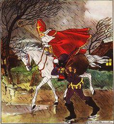 Sinterklaas en Zwarte Piet ||||| illustrations of Nans van Leeuwen | Sinterklaas in Action