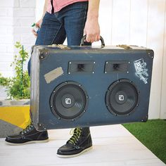 heisenberg retro suitcase speaker by bass trunkies | notonthehighstreet.com