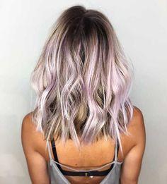 Best Short Hairstyles for Thick Wavy Hair - hair - Lilac Hair Long Thin Hair, Medium Long Hair, Short Wavy Hair, Thick Hair, Short Pixie, Short Cuts, Lavender Hair, Pastel Hair, Hair Highlights