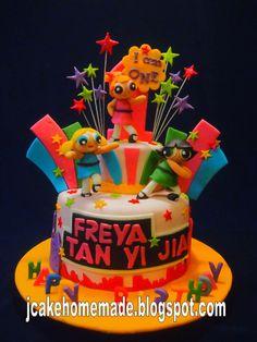 Jcakehomemade: Powerpuff girls birthday cake