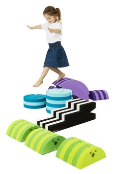 bObles Large Obstacle Course Set - bObles were created to help all children learn and develop different gross motor skills. Gross Motor Activities, Sensory Activities, Toddler Activities, Alphabet Activities, Sensory Play, Baby Play, Baby Toys, Cool Toys, Kids Playing