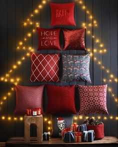 Make your home cosier than ever with our festive cushions #HMHome #holidaydecor