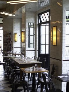 Schillers restaurant. NYC Lower East Side. Tile by Urban Archaeology