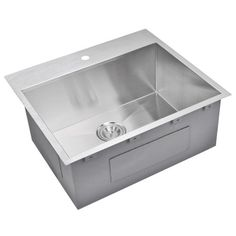 "Water Creation SS-TS-2522A 25"" X 22"" Zero Radius Single Bowl Stainless Steel Hand Made Drop In Kitchen Sink Premium Scratch Resistant Satin Stainless Steel >>> Read more @ http://www.amazon.com/gp/product/B00GJVXS9E/tag=homeimprtip08-20&vw=140716022508"