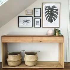 We just adore how @nydesign_aus has made the most of under her stairwell!! Our favourite @ethnicraft piece couples with the perfect mix of prints! Of course we love seeing works from our artists @bygarmi and @magdalenatyboni especially. Xxx