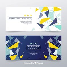 Modern banners with abstracts shapes Fre. Fb Banner, Banner Backdrop, Backdrop Design, Event Poster Template, Event Poster Design, Banner Template, Banner Design Inspiration, Web Banner Design, Ad Design
