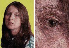 EMBROIDERY PORTRAITS BY CAYCE ZAVAGLIA - wow!  Nice eye detail