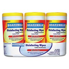 Disinfecting Wipes, 8 x 7, Lemon Scent, 75/Canister, 3 Canisters/Pack, NOW $19.19 through 11/30/15 #work #office #supplies #save
