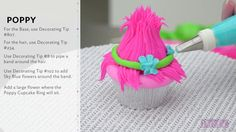 How to Make DreamWorks' Trolls Cupcakes - YouTube