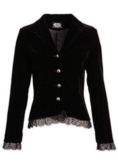 Womens Black Velvet Victorian Steampunk Jacket with Back ... https://www.amazon.com/dp/B01CYRCAUO/ref=cm_sw_r_pi_dp_x_1lQGzbD7Z347K
