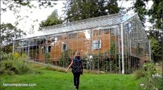 Swedish couple builds greenhouse around home to grow food and keep warm year round. ~ I want to do this.