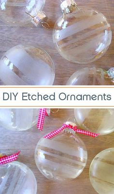 Add a little sparkle to your tree with these easy DIY glass etched ornaments. | Storypiece.net