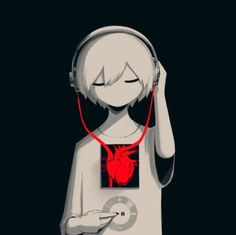 Illustration Illustrating The Bleed of Humanity Created by Technology: - Anime Art Dark Anime, M Anime, Anime Art, Anime Demon, Kawaii Anime, Anime Girls, Art Triste, Anime Triste, Dark Art Illustrations
