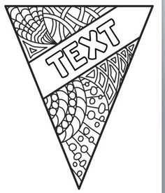 Pennants to Color - Editable for Student Names, Character rajz Pennants to Color - Editable for Student Names, Character Traits etc. Calming Activities, Primary Activities, Back To School Activities, Classroom Organisation, Teacher Organization, Organization And Management, Colouring Pages, Adult Coloring Pages, Coloring Books