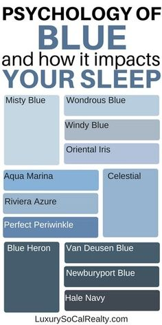 Colors Make You Sleep Better? (Best Bedroom Colours) Psycology of color and how it impacts your sleep. Best paint shades for a good night's sleep. Psycology of color and how it impacts your sleep. Best paint shades for a good night's sleep. Interior Paint Colors, Paint Colors For Home, House Colors, Paint Colors For Bedrooms, Light Blue Paint Colors, Interior Design, Best Bedroom Colors, Master Bedroom Color Ideas, Relaxing Bedroom Colors