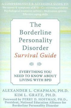 Really great book that unusually doesn't reinforce all the harmful stigma out there. The Borderline Personality Disorder Survival Guide.