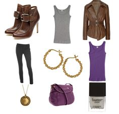 Doctor Who Inspired Outfits - Donna Noble  I think I would go with more of a trouser cut jean instead.