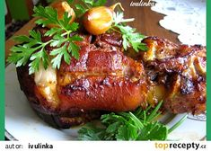 Snack Recipes, Cooking Recipes, Snacks, Czech Recipes, Ethnic Recipes, Thing 1, Pork Roast, Salmon Burgers, Baked Potato