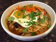 Warming Broth Bowl with Tofu, Veggies & Optional Fried Egg. {Vegetarian/Vegan Recipe}