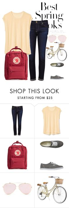 """""""Casual Errands"""" by ambitious-business-girl ❤ liked on Polyvore featuring H&M, AG Adriano Goldschmied, Gap, Fjällräven and Vans"""