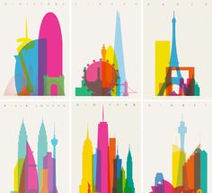 Shapes of Cities Illustrations