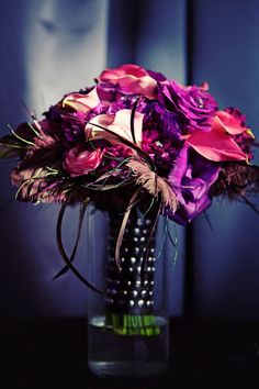 Heavy Metal - floral, feather bouquet