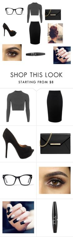 """""""The Business Way"""" by lover-860 ❤ liked on Polyvore featuring beauty, Topshop, Alexander McQueen, Qupid, MICHAEL Michael Kors, Spitfire and NYX"""