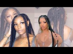 BIRTHDAY HAIR STYLE JUMBO KNOTLESS | DEARRA INSPIRED!#birthday #dearra #hair #inspired #jumbo #knotless #style Balliage Hair, Birthday Hair, Box Braids, Youtube Birthday, Inspired, Hair Styles, Inspiration, Hair Plait Styles, Biblical Inspiration
