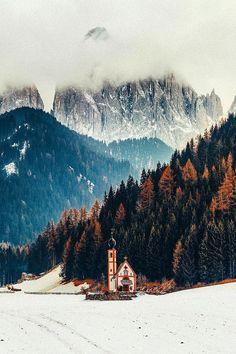 "lsleofskye: ""St. Johann Church | Dolomites, Italy """