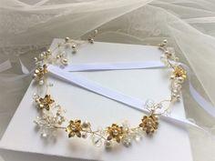 """Bijoux mariage - Couronne de mariée """"Capucine"""" avec Perles swarovski : Accessoires coiffure par les-bijoux-d-aki"""