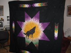 native american creation quilt  | heart quilts