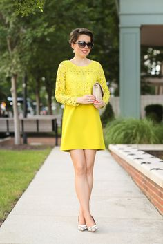 Redreticule a blog for women over 30 chicwish lacedress yellow