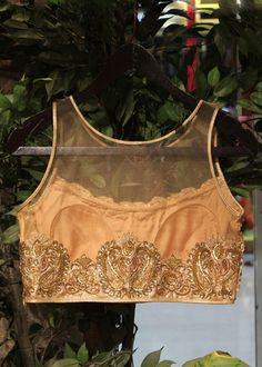 Gold zardozi embroidered blouse - Special Edit