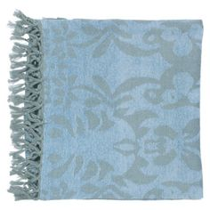 Decorative British Throws   a pretty blue to contrast the gray/white sofa set