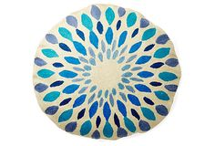 "Iris 24"" Round Pillow, Blue on OneKingsLane.com"