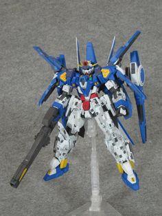 GUNDAM GUY: HG 1/144 Gundam AGE-3 Normal Kai w/ Artemis Parts - Customized Build