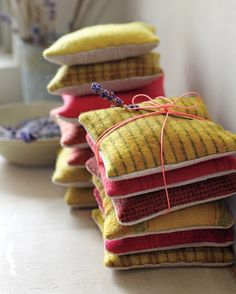 Fragrant Sachets: Transform scraps of wool into tactile little pouches with refreshing aromas like balsam or lavender (which naturally repels moths). Make dozens of them assembly-line-style in a day and they'll perfume your loved ones' linens or woolens for years to come.