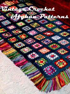 Tons of crotcheted afghan patterns - If you ignore the vintage colours, many of the patterns are quite nice.