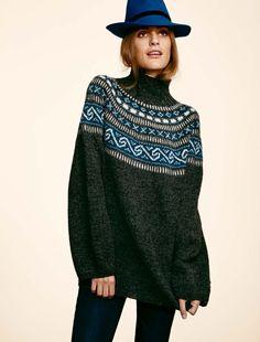 Nordlandskofte med variasjoner - Strikkegarn og strikkeoppskrifter - TO DAMER Creative Knitting, How To Purl Knit, Knitwear, Cashmere, Tunic Tops, Sewing, Crochet, Heaven, Cozy