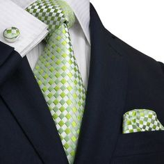 White ,Green and Lime Green JPM341 – Toramon Necktie Company