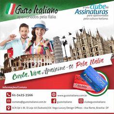 Clube de descontos e vantagens para quem é apaixonado pela cultura italiana. www.gustoitaliano.com.br