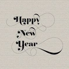 Happy New Year Typography Holiday Decor Wall by DigitalThings