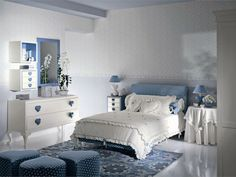 Girls bedroom in blue