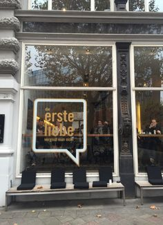 Erste Liebe Bar in Hamburg City. Great spot for lunch, coffe or a drink!